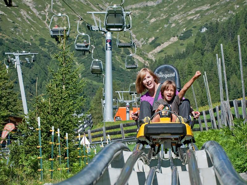La montaña rusa alpina de Mieders, Austria