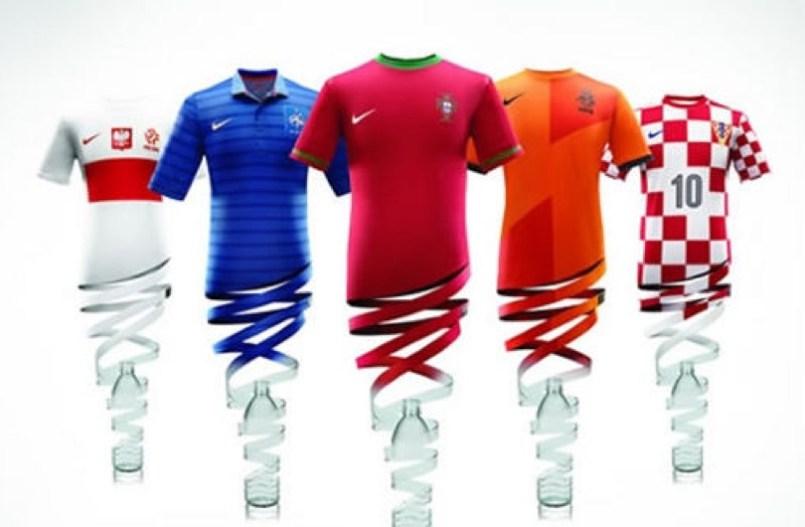 Las camisetas de Nike para la Eurocopa se hicieron con botellas de pl