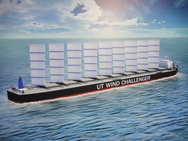 Los barcos mercantes del futuro podrían usar velas para ahorrar combustible