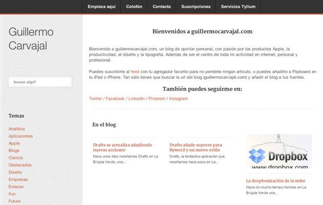 Todos los artículos publicados este año en GuillermoCarvajal.net en formato eBook