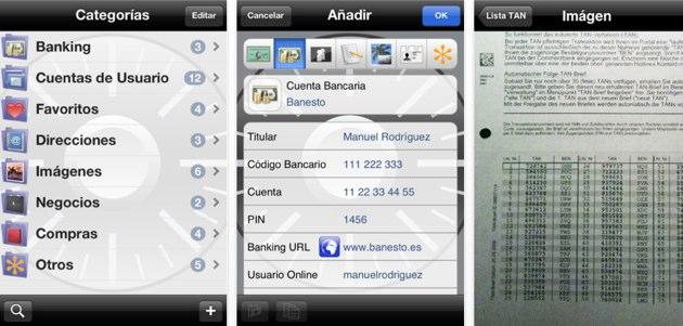 Safe, una aplicación para guardar tus datos privados en iOS