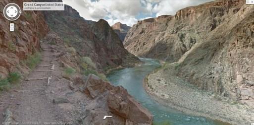 Pasea por el Gran Cañón del Colorado a través de Street View