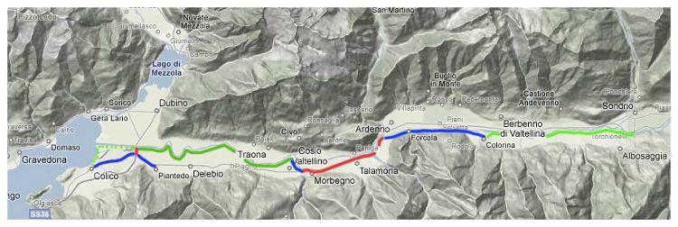 Sentiero Valtellina, el antiguo Camino Español