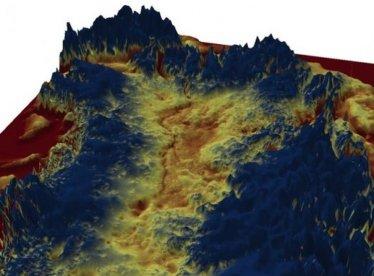 Descubren un gran cañón bajo el hielo de Groenlandia