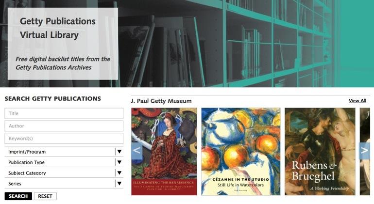 La Biblioteca Virtual Getty ofrece 250 libros de arte y tecnología gratis