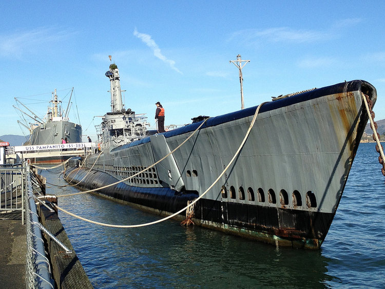Una visita al submarino U.S.S. Pampanito en San Francisco