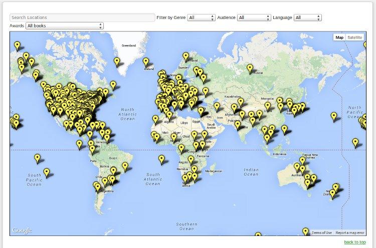 Los mayores mapamundis de Historia y Literatura en Internet (y II)