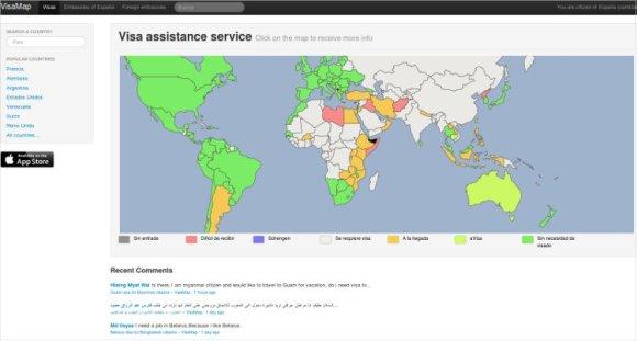 VisaMapper VisaMap cómo saber documentación llevar cualquier país2