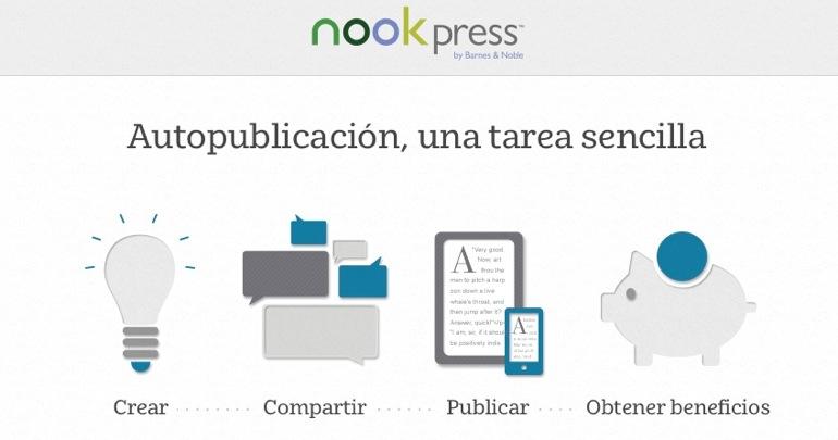 Crear y publicar libros gratis con Nook Press