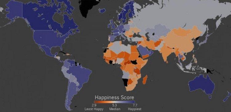 Mapa mundial de la felicidad