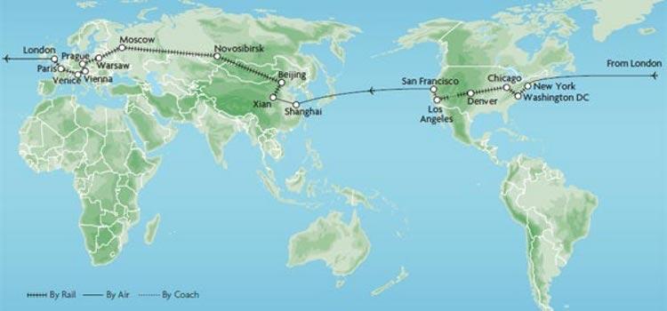 Vuelta al mundo 53 dias dias tren