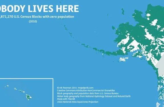 Mapas que muestran los sitios donde no vive nadie 3