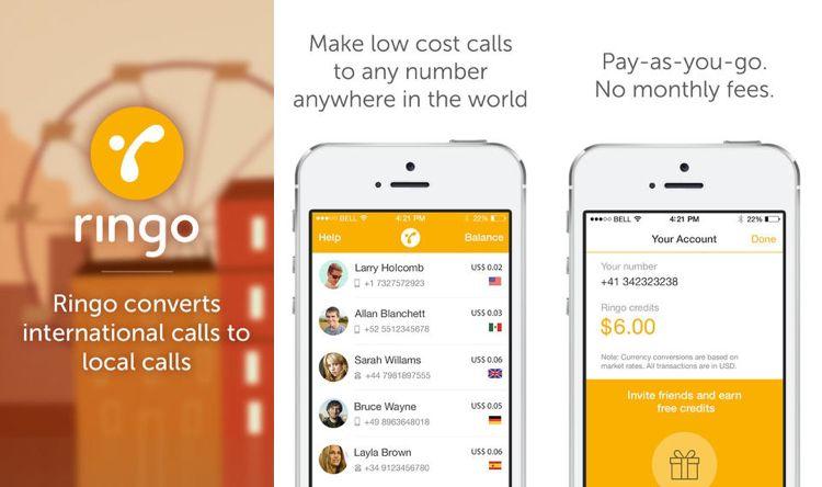 Ringo, una aplicación para realizar llamadas internacionales a bajo costo