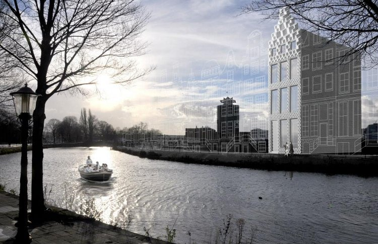 Construyen una casa en Ámsterdam con una impresora 3D