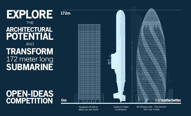 Concurso reaprovechar submarino nuclear como edificio