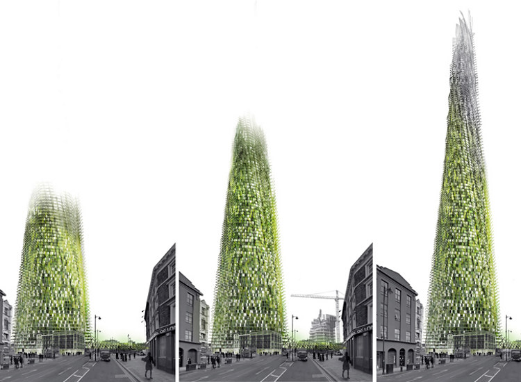 Un rascacielos que crece con los desechos de sus inquilinos