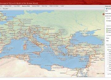 Mapa interactivo para viajar por el Imperio Romano