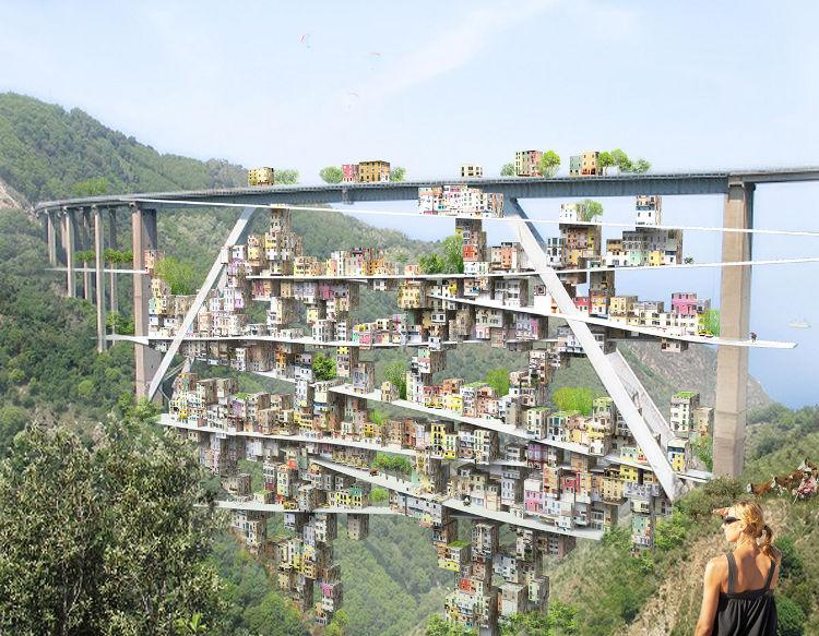 Una urbanización ubicada en el arco de un viaducto 2