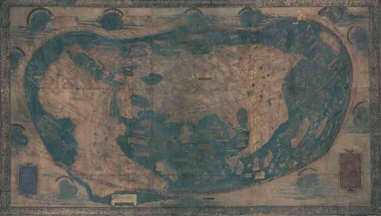El mapa de Henricus Martellus, el que Cristóbal Colón pudo utilizar en su viaje de 1492