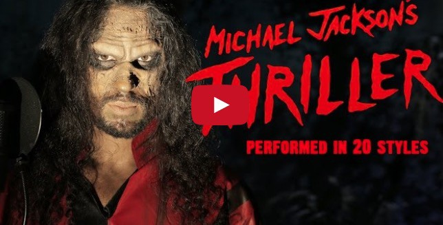 Video: 20 versiones de Thriller en menos de 5 minutos