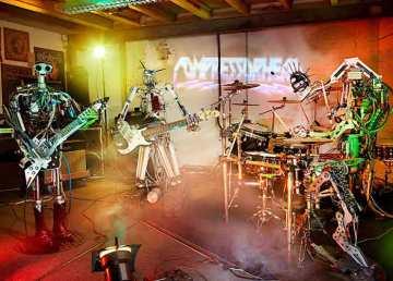 Compressorhead, la primera banda de rock cuyos miembros son robots
