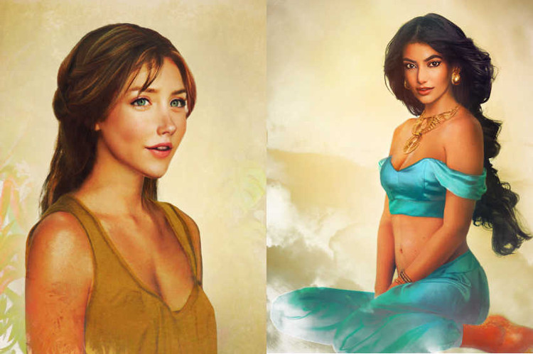 Version realista personajes femeninos Disney 2