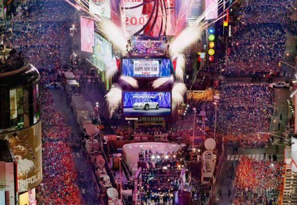 Despidiendo año Times Square 2