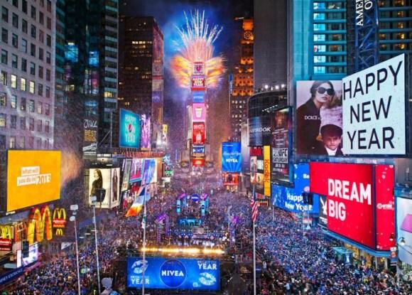 Despidiendo año Times Square
