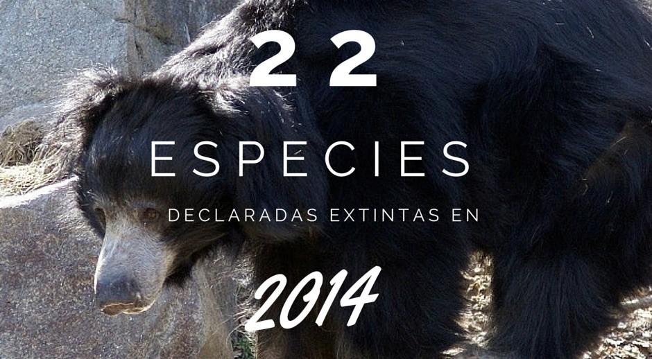 Las 22 especies declaradas extintas en 2014