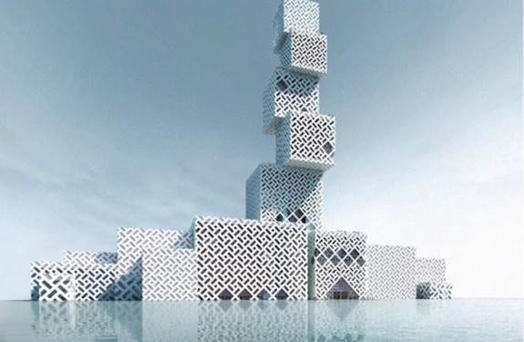 Los cubos apilables del centro cultural de Foshan 1