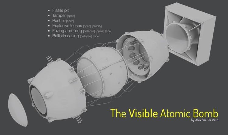 Explora una bomba atómica por dentro con este modelo interactivo