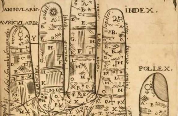 Un tratado de quiromancia publicado en Francia en 1666
