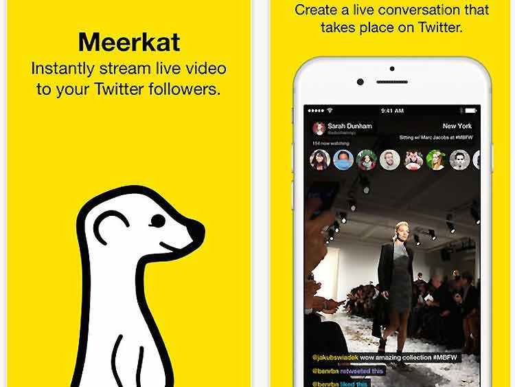 Meerkat, la app de vídeo en streaming para iOS de moda