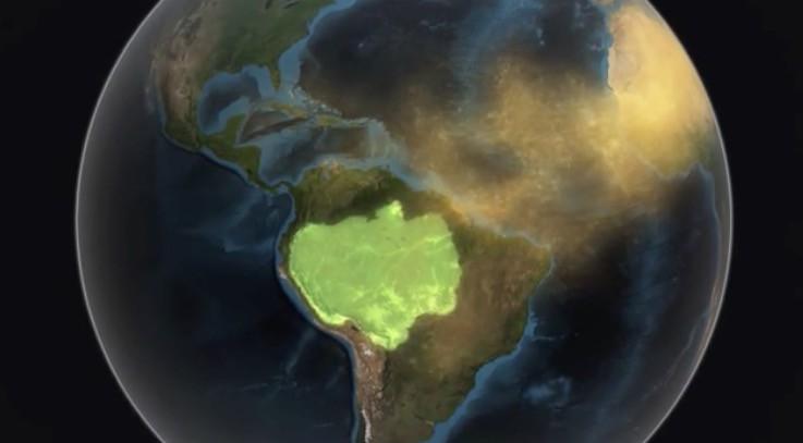 La NASA muestra como el polvo sahariano fertiliza el Amazonas 1
