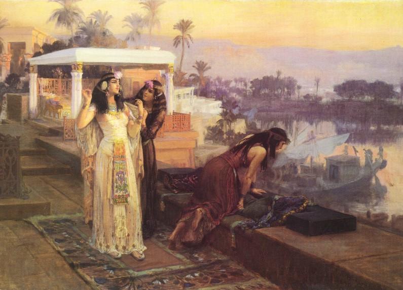 Cleopatra sobre las terrazas de Philae, de Frederick Arthur Bridgman