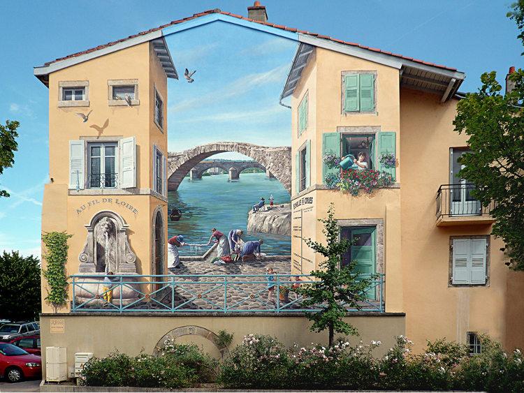 Patrick Commecy artista da vida fachadas francesas 1