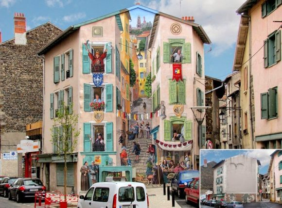 Patrick Commecy artista da vida fachadas francesas 4
