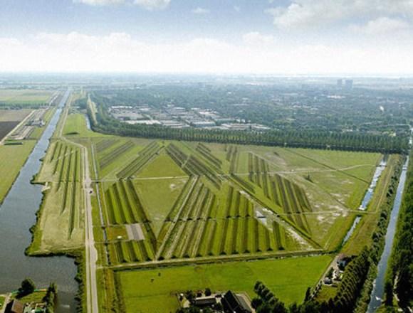 Parque crestas aisla ruidos aviones Amsterdam