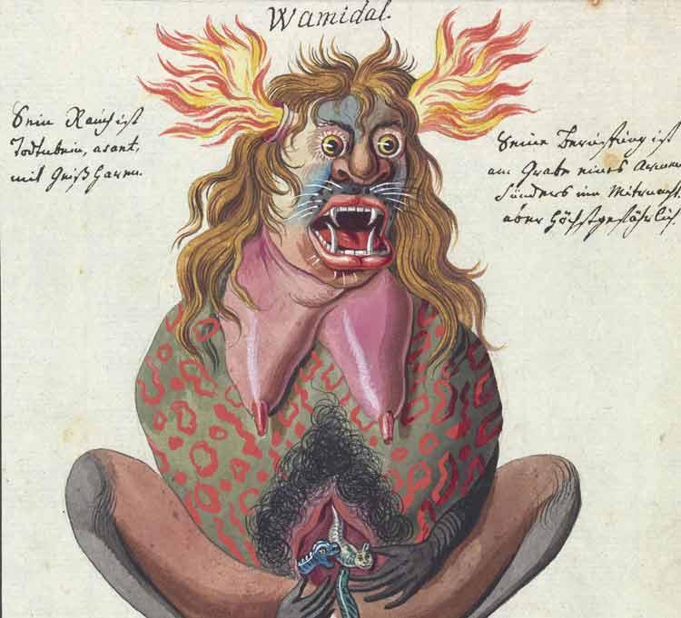 Un bizarro manuscrito de ocultismo y rituales mágicos del siglo XVIII