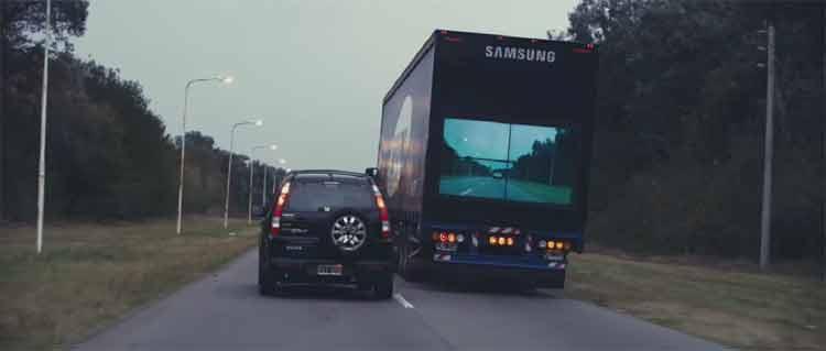 Safety Truck, el concepto de Samsung para acabar con los accidentes en adelantamientos