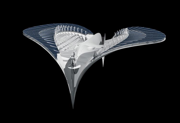 Ciudad acuatica forma manta raya 1