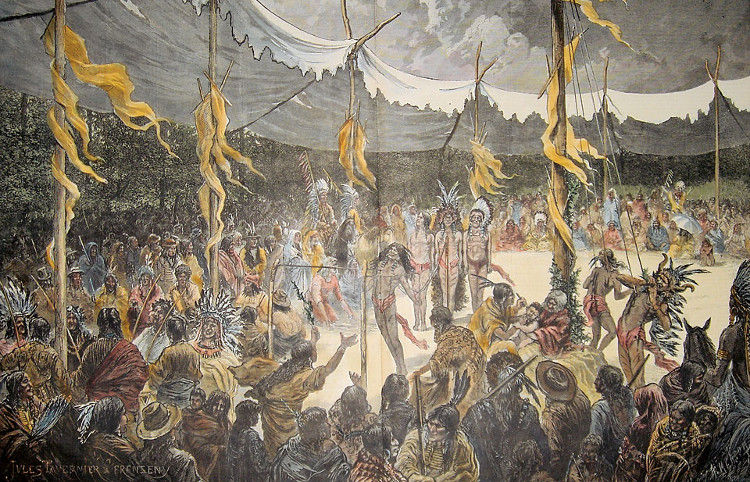 Danza Sol atroz ritual indios americanos