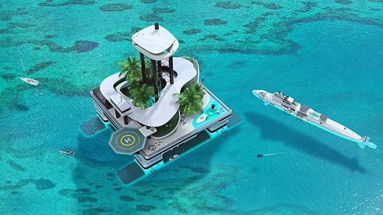 Kokomo Ailand isla privada artificial transportable