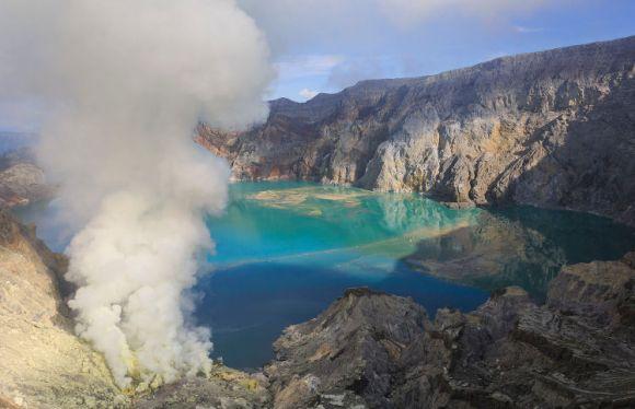Erupciones azules volcan Kawah Ijen 1