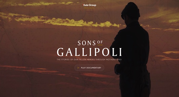 Sons of Gallipoli: La Batalla de Gallipoli en un documental interactivo