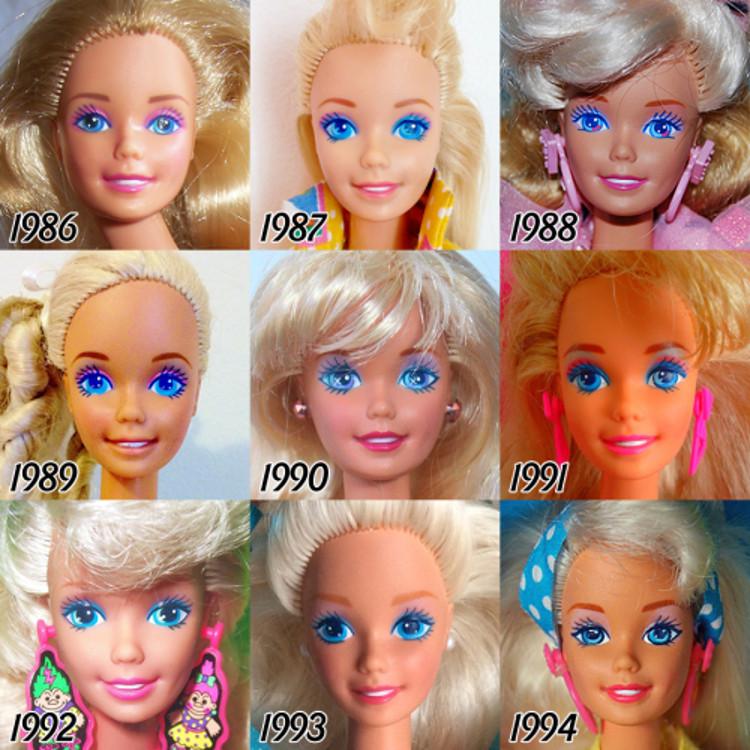 Evolucion Barbie largo 56 años 3