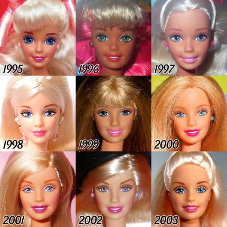 Evolucion Barbie