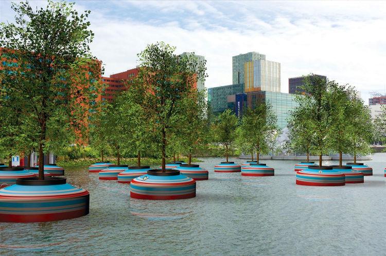 Un bosque flotante para Rotterdam
