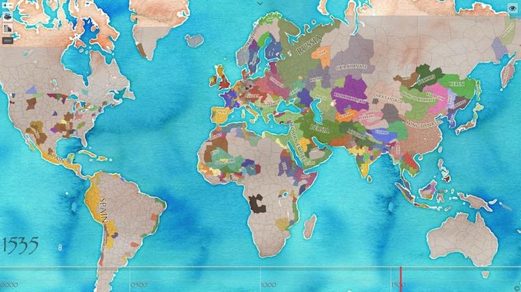 Chronas, el mapa interactivo de las fronteras mundiales desde el año 1 hasta la actualidad