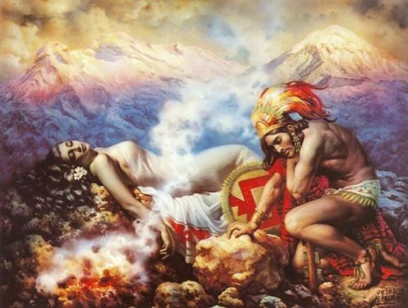 Cuando dos españoles siglo XVI subieron volcan Popocatepetl 2